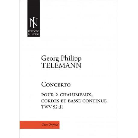 Concerto pour 2 chalumeaux en ré mineur TWV 52:d1