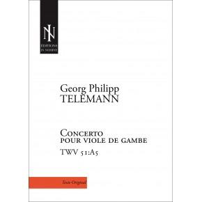 Concerto for Viola da gamba, Strings and through bass in A major TWV 51:A5